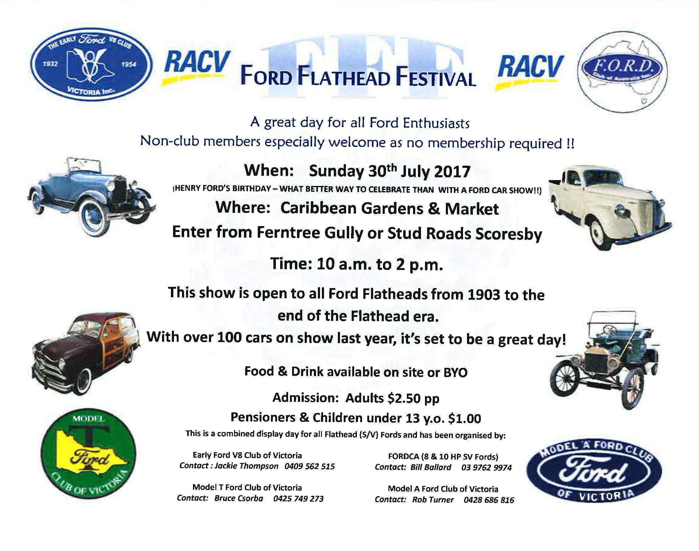 CAR SHOW Ford Flathead Festival Caribbean Gardens - Henry ford car show