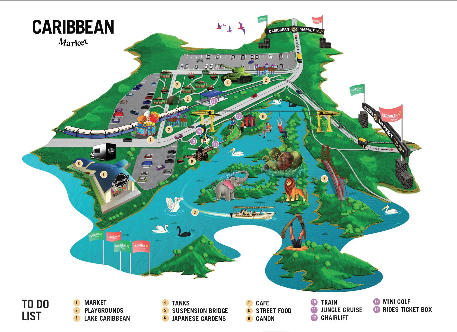 Gardens & Market Map